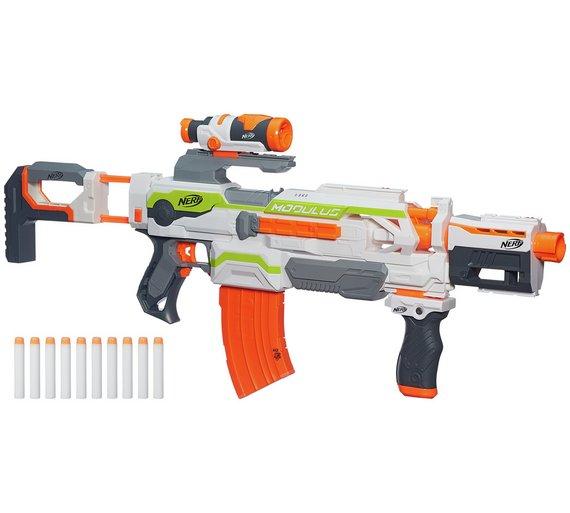 Nerf N-Strike Modulus ECS-10 Blaster. Down to £15.00 from £49.99 on Argos
