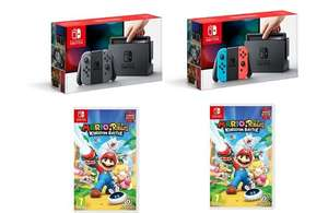 Nintendo Switch Grey or Neon + Mario Rabbids Kingdom Battle £279.99 @ Amazon