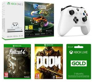 Xbox One S RL pack *500gb* + Extra controller + 3 months live + 2 extra games £219 @ Currys