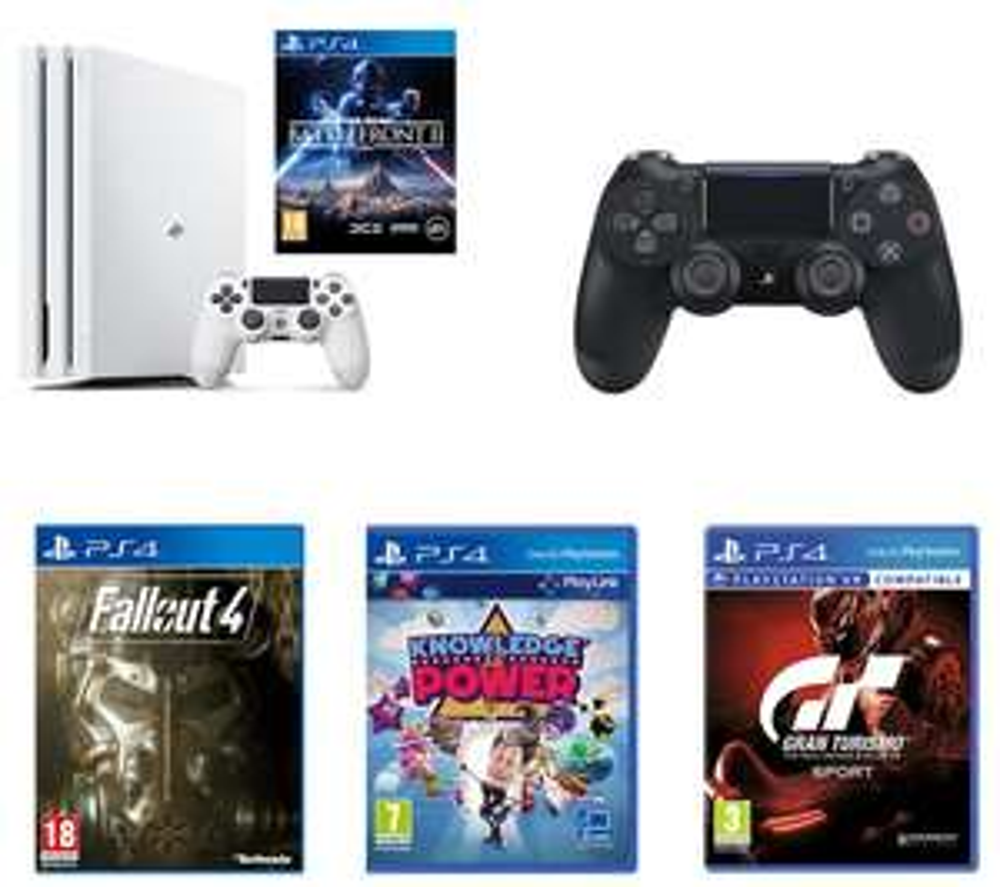 SONY PlayStation 4 Pro, Games & Wireless Controller Bundle £229 @ PCWorld
