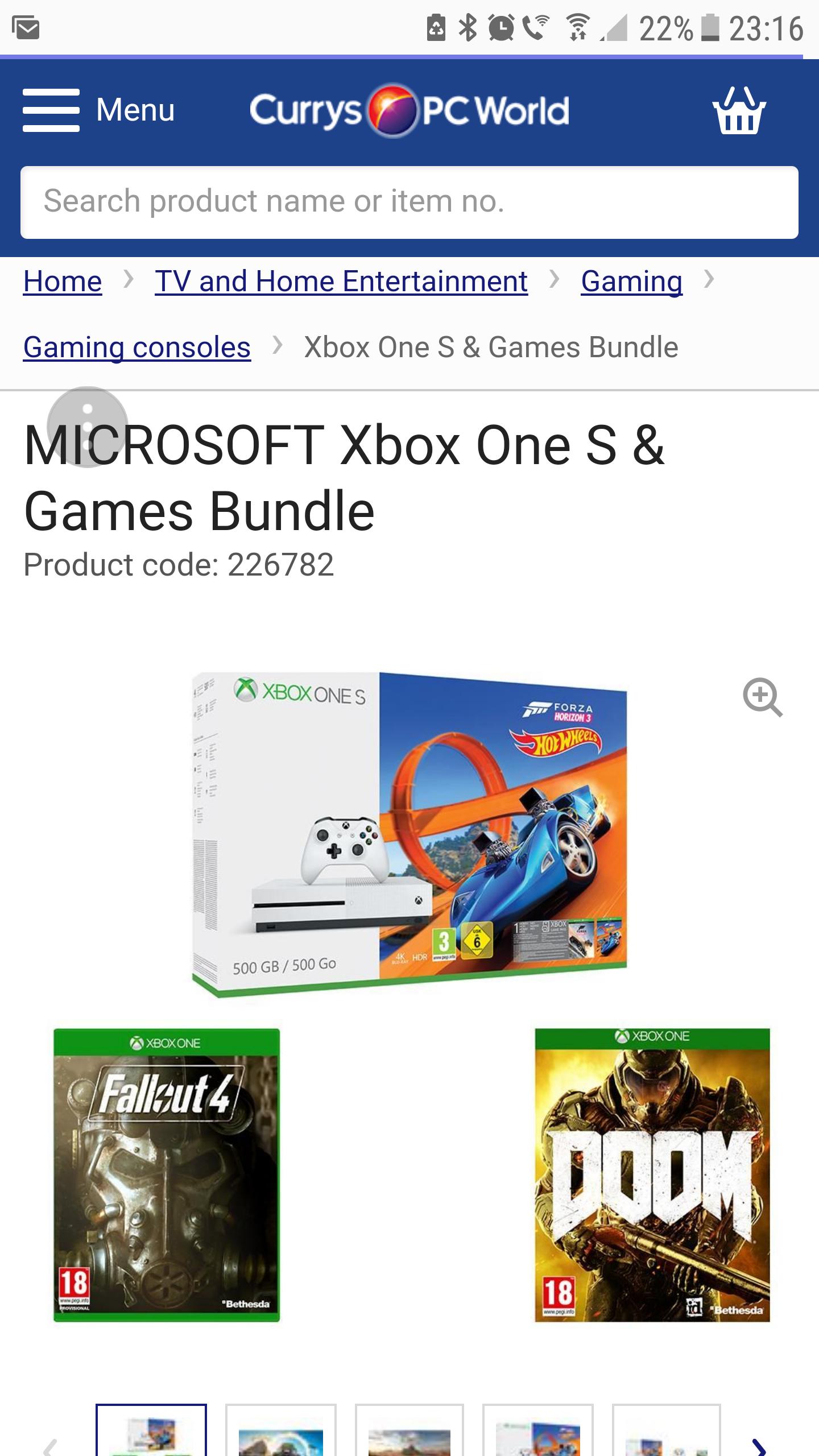 Xbox oneS bundle £169.99 @ Currys