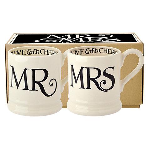 Emma Bridgewater Black Toast Mr & Mrs Mugs, Set of 2 £19.18 @ John Lewis - £2 c&c
