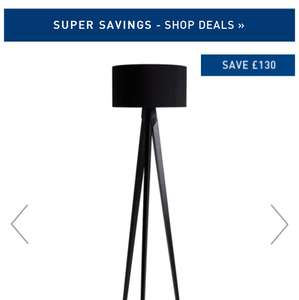 Dark Stained Wooden Tripod Floor Lamp With Black Shade £100 @ Habitat