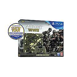 PlayStation 4 1TB Call of Duty: WWII Camo console + GT Sport £229 with FREE C&C @ Tesco Direct