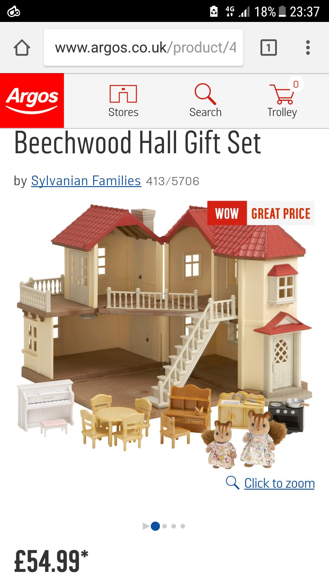 Sylvanian Families Beechwood Hall Gift Set £54.99 @ Argos