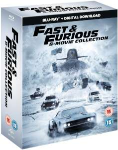 Fast & Furious 8-Film Collection (1-8 Boxset) BD + digital download [Blu-ray] £22.99 Zavvi