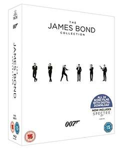 James Bond Blu Ray collection and digital code £34.99 at Amazon (upto and including Spectre)