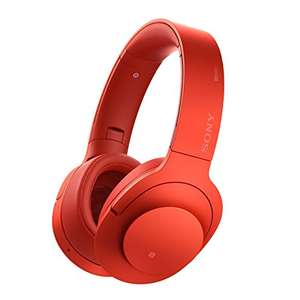 Sony h.ear on MDR-100ABN Wireless High Resolution Noise Cancelling Over-Ear Headphones - Red at Amazon for £149.95