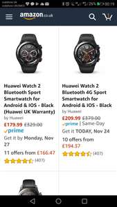 HUAWEI 4G smart watch at Amazon for £209.99