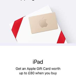 Apple Black Friday - Cash back as voucher