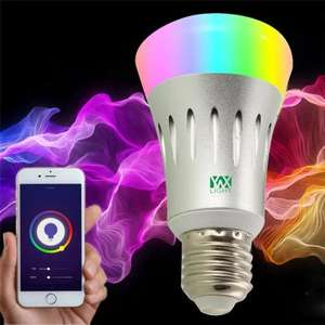 Ywxlight E27 Wi-Fi Multicolored Led Bulbs Dimmable works with alexa at Gearbest for £8.40