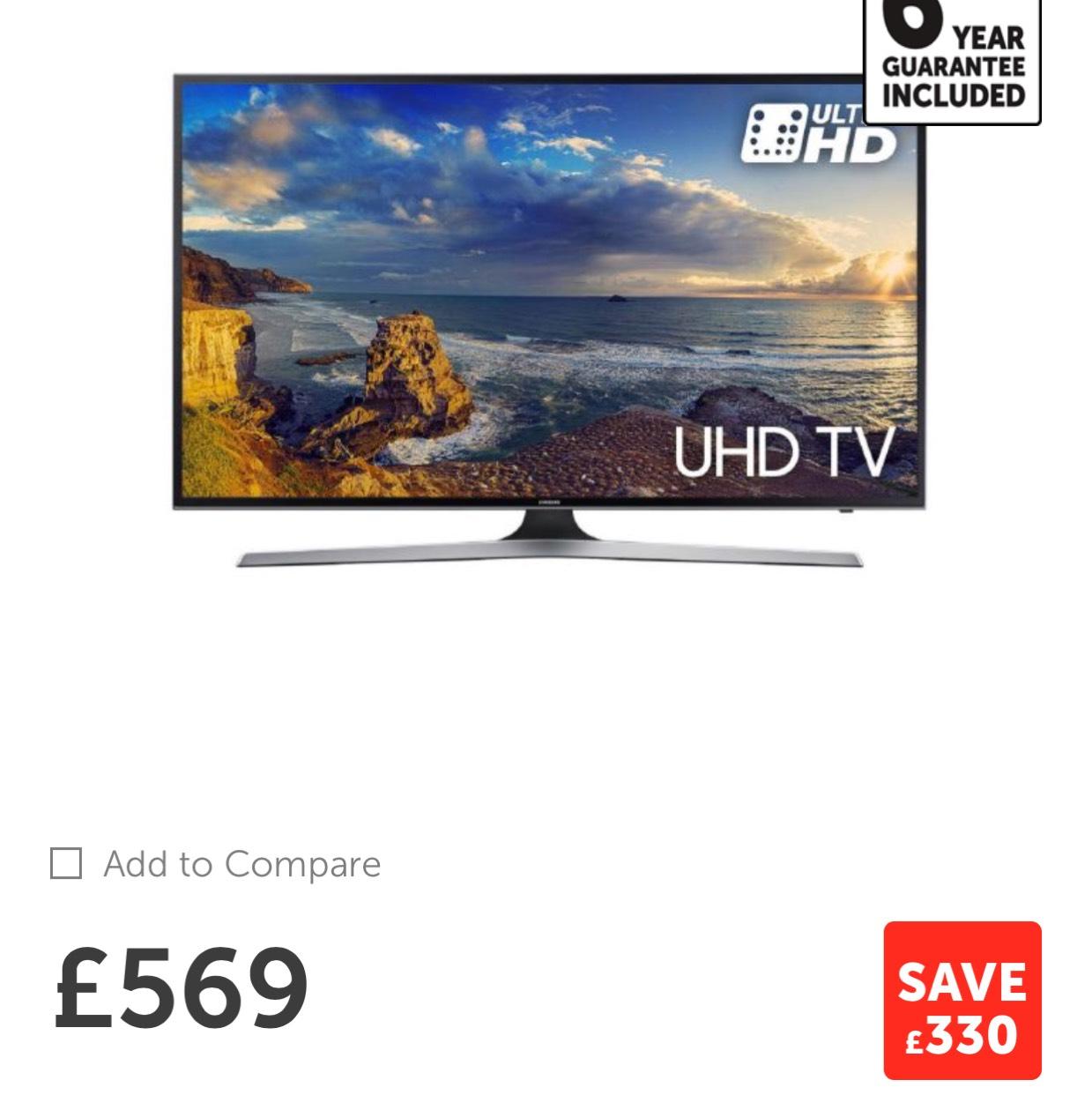 Samsung UE55MU6120 55 inch 4K Ultra HD HDR Smart LED TV TVPlus - Game deal expired. NB richer sounds