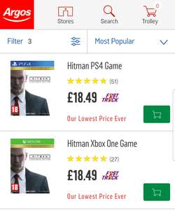Hitman: The complete first season -  Xbox One/PS4 £18.49 @ Argos