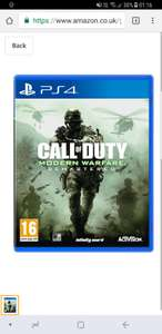 COD Modern Warfare Rematered PS4 Amazon £17.99 prime members (£19.98 non Prime)