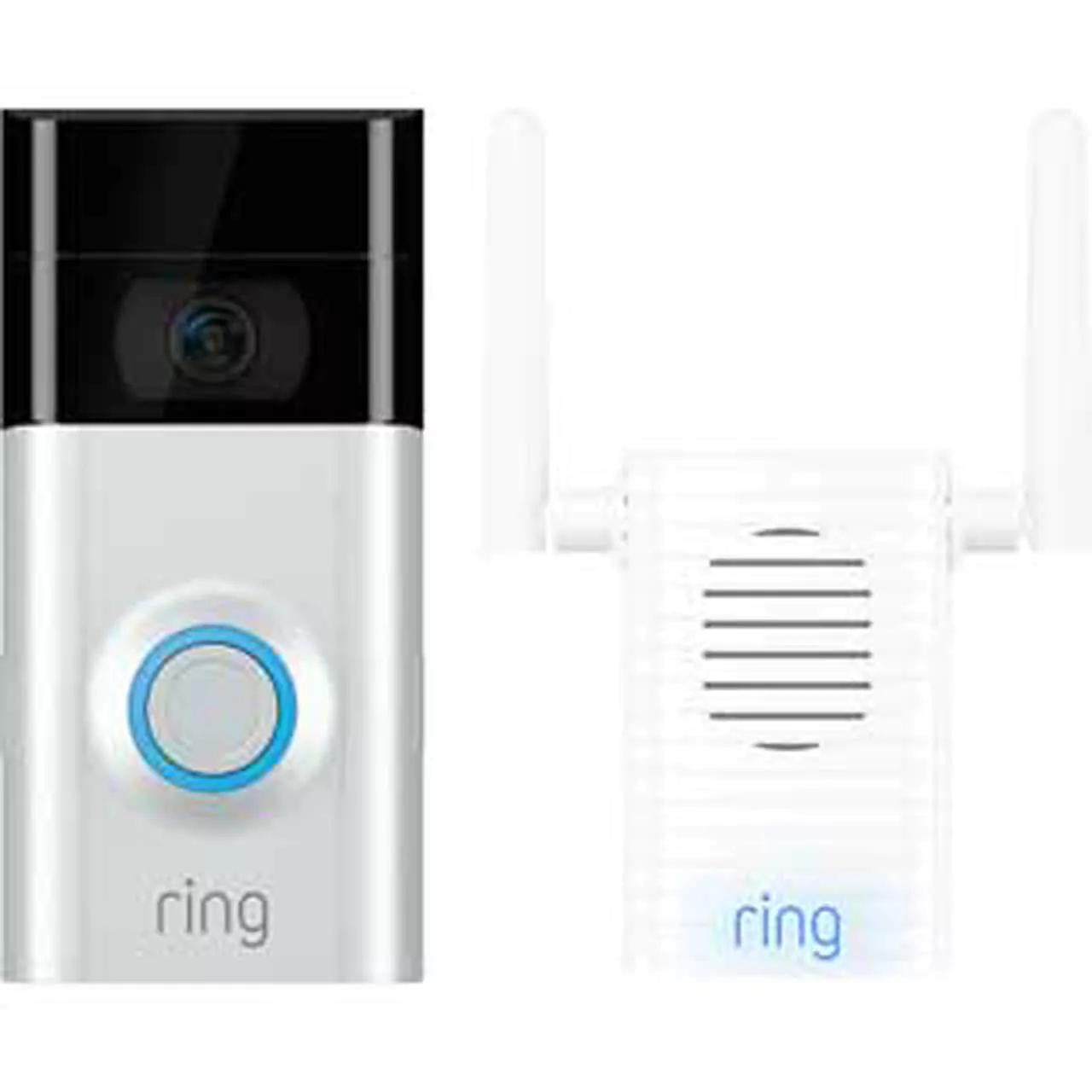 ring video doorbell v2 chime pro bundle 165 ao. Black Bedroom Furniture Sets. Home Design Ideas