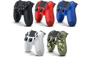 PS4 DualShock 4 V2 Wireless Controller (Red/Blue/Black/White/Camo) - £37.99 @ Argos