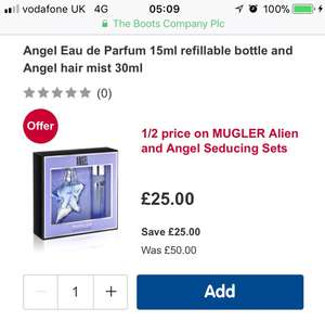 Thierry Mugler Angel Gift Set Half Price £25 Boots