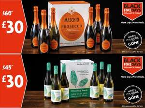 MASCHIO PROSECCO CASE 6 bottles or WHISTLING TRACK SAUVIGNON BLANC CASE 6 bottles  £30 each @ Morrisons