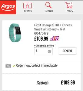 Fitbit Charge 2 HR + Fitness £109.99 Argos