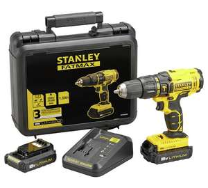 Stanley FatMax Cordless Hammer Drill with 2 18V Batteries £79.99 Argos