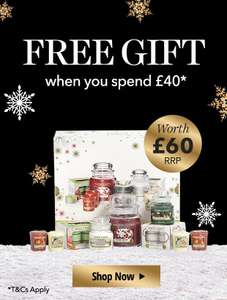 "Free ""£60""yankee candle set with £40 purchase"