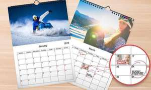 5 x Personalised Photo Calendars £17.15 including delivery using code