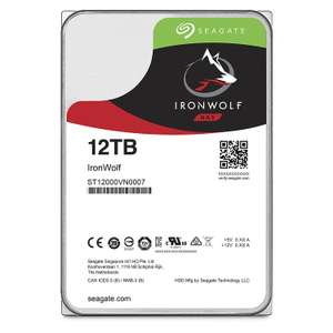 Seagate 12TB IronWolf 3.5 inch 7200 RPM Internal Hard Drive for 1-8 Bay NAS Systems (256MB Cache, 180TB/Year Workload Rate, up to 210MB/s) £299.99 Amazon