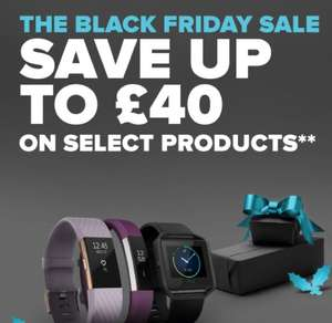 Save up to £40 - Fitbit Range @ Fitbit (BLACK FRIDAY DEAL)