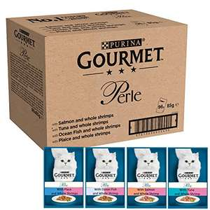 Gourmet cat food 96 pouches for £22.50 at Amazon