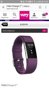 Fitbit Charge 2 with hr - £89.99 @ Very