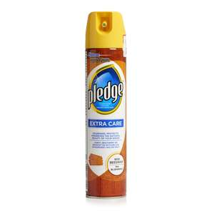Pledge Extra Care Furniture Polish with Beeswax Aerosol Spray, 250 ml, Pack of 4 for £1.60 (add-on item)