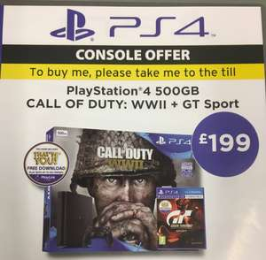 PS4 bundle 8 with COD WW2 and GT sport  £199 Asda