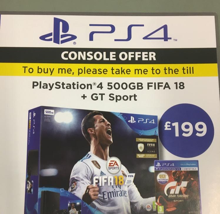 PS4 bundle - £199 @ ASDA Instore