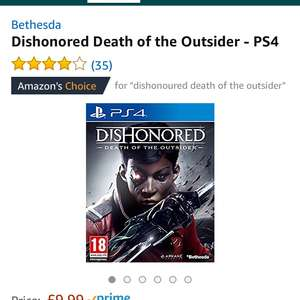 Dishonoured: Death Of The Outsider PS4 £9.99 (Prime) £11.98 (Non Prime) @ Amazon