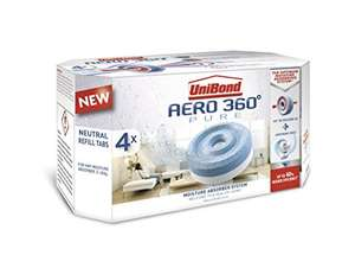 UniBond Aero 360° Moisture Absorber Neutral Refill tabs 4 x 450g (Amazon £6.79 Prime £10.78 Non Prime)