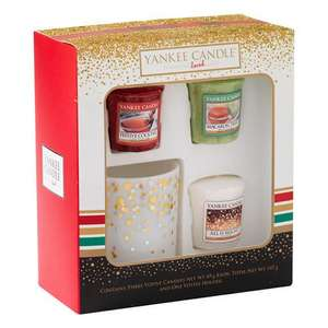 Yankee Candle 3 Votive and 1 Votive Holder Christmas Holiday Giftset £8.39 (prime) £13.14 (non prime) delivered @ Amazon