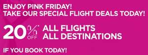 20% off @ Wizz Air (All flights all destinations!)