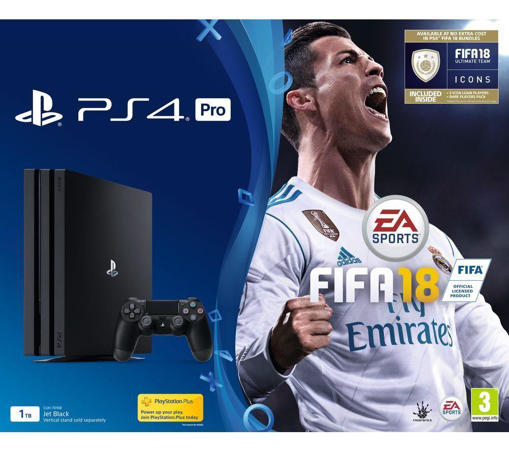 Playstation PS4 PRO + 3 games , Fifa , Gran T and Fallout 4 £229 + 5 % Topcashback = £215