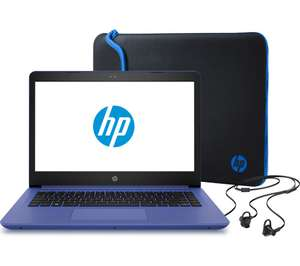 "HP 14-bp066sa 14"" Laptop, Sleeve, and Earbud Headset Bundle £229.99 Currys"