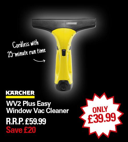 Kärcher WV2 Window Vac w/spray and detergent. £39.99 Free C&C Dyas/Ryman