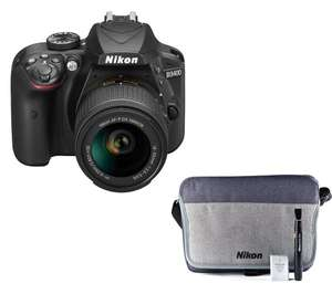 NIKON D3400 DSLR Camera with 18-55 mm f/3.5 Lens & FREE Accessory Kit - £354 @ Currys