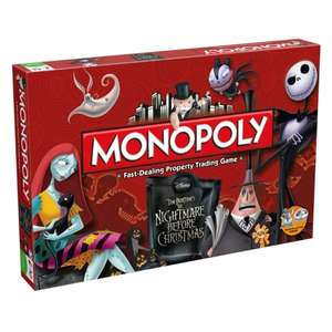 Nightmare Before Christmas Monopoly £28.99 + 20% Back in Player Points w/code in 365games Cyber Monday Event