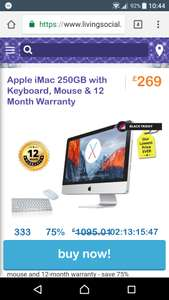 Apple imac 250gb @ livingsocial.co.uk