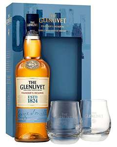 GREAT DAD GIFT! on Amazon. The Glenlivet Founder's Reserve Scotch Whisky with 2 Glasses, 70 cl for £39