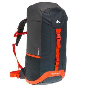 QUECHUA Arpenaz 40 Litres Backpack - Black/Orange for £6.49 plus free collect @ Decathlon