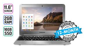 Samsung Chromebook, 11.6 Screen, 2GB RAM, 16GB SSD, 12 Month Warranty £89.99 @ GoGrooopie (P&P £9.99 not included)