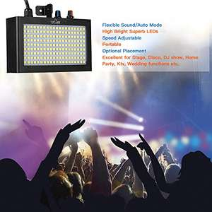 Strobe light,180LEDs Flash stage light disco light Auto Running Sound Control  was 29.99 - £17.99 @ Sold by TOMSHOP. and Fulfilled by Amazon
