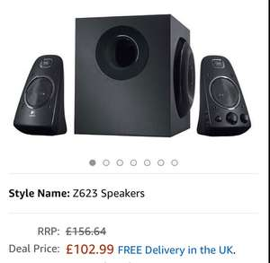 Logitech Z623 2.1 Speaker System for PC/Mac/Linux or Any Device with 3.5 mm and RCA Audio Out - Black £102.99 Amazon