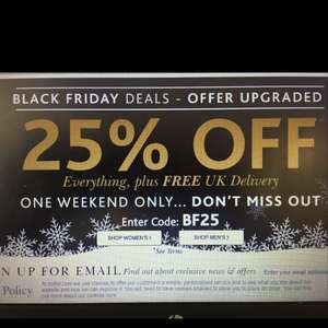 Hotter Shoes 25% off everything Black Friday and weekend