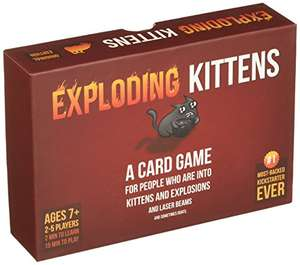 Exploding Kittens card game £14.99 prime / £18.98 non prime Exploding Kittens LLC and Fulfilled by Amazon